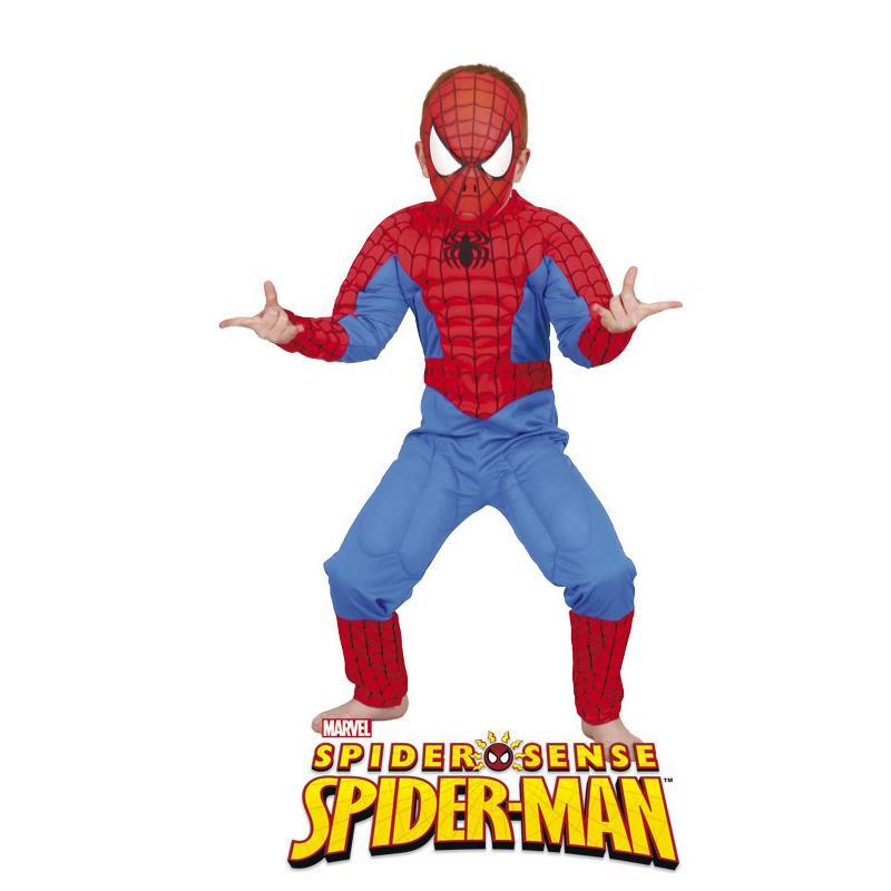 Disfraz Spiderman con musculos infantil