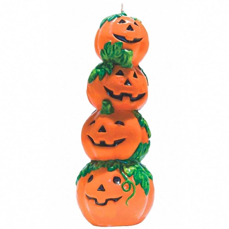 Vela Halloween Torre Calabazas 17cm