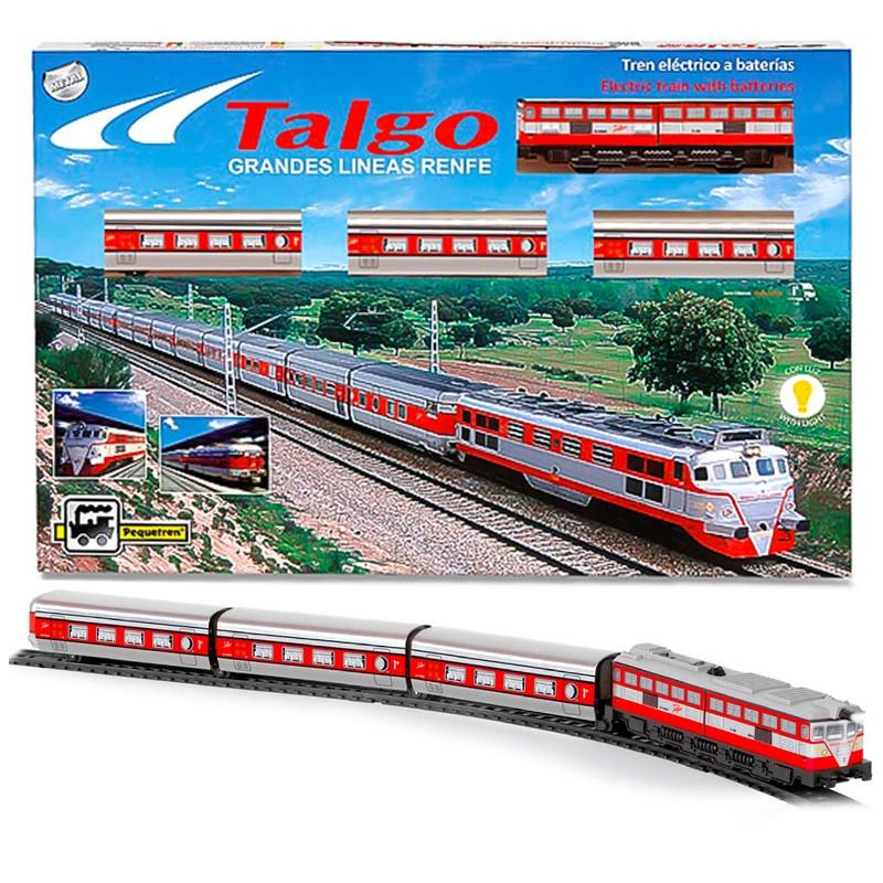 Tren articulado Talgo con luz
