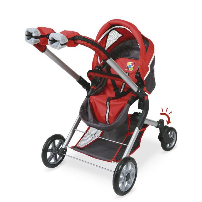 Coche y silla de muñeca 3X1 con ruedas Giratorias