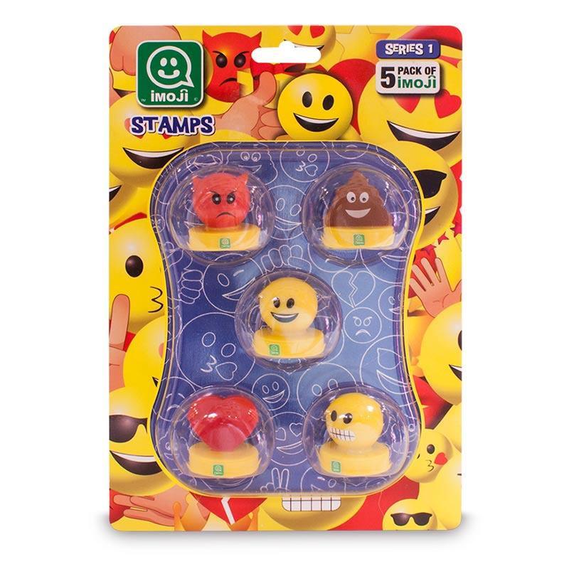 Emoji sellos blister 5 unidades