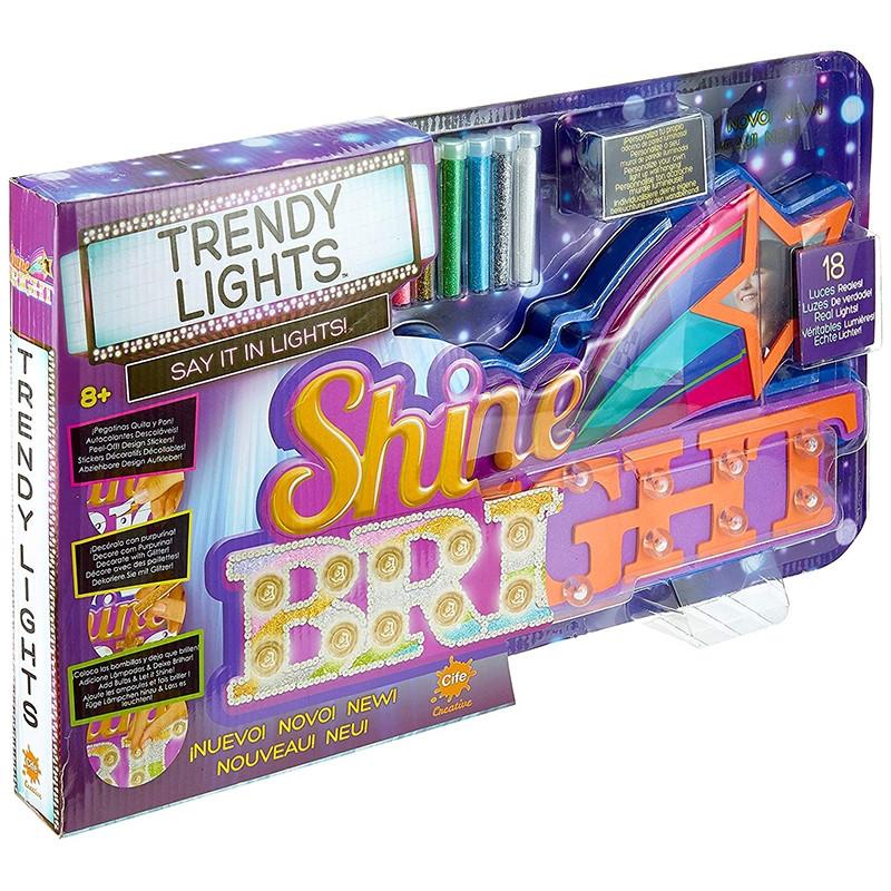 Cartel luminoso Trendy lights kiss/shine