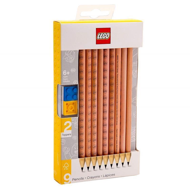 LEGO Pack de 9 lápices nº2 con toppers
