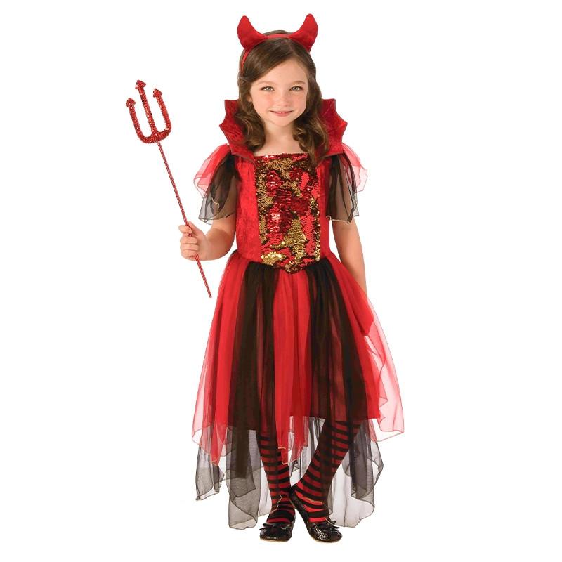 Disfraz diablesa mágica infantil