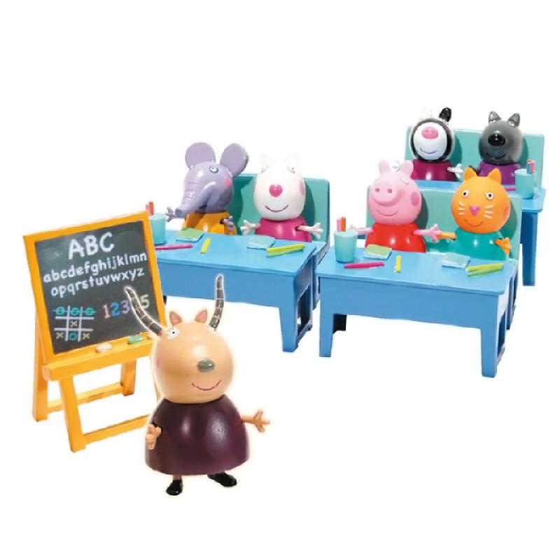 Peppa Pig vamos al cole con 7 figuras