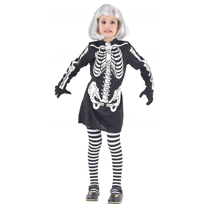 Disfraz chica esqueleto Infantil