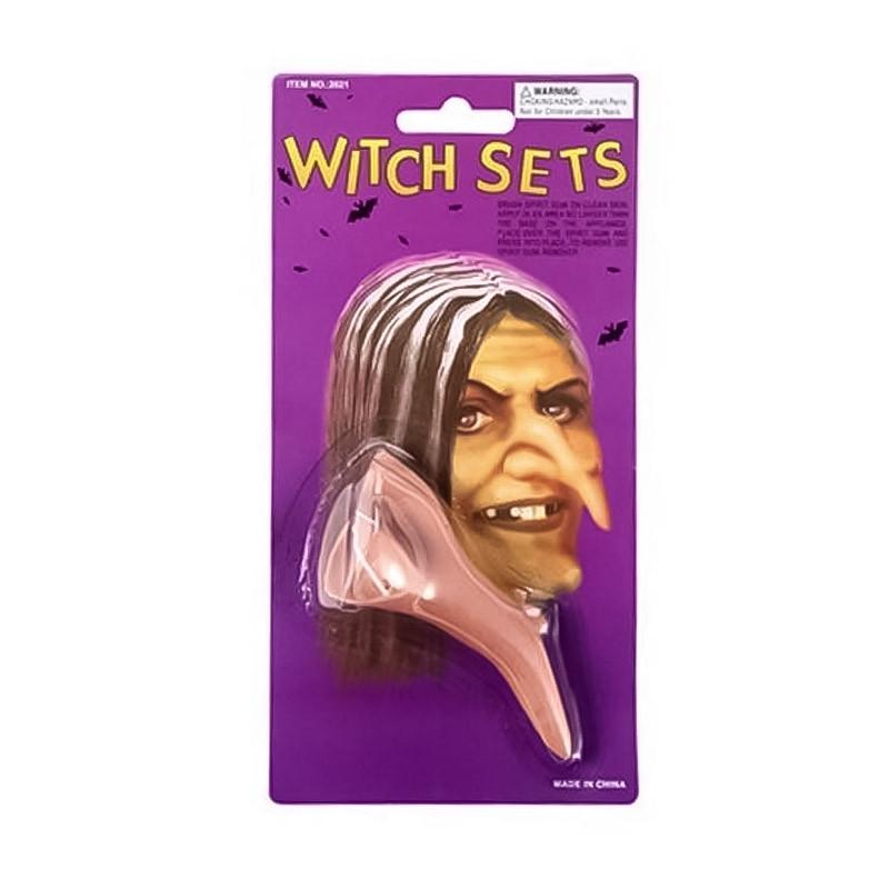 Nariz de bruja Halloween