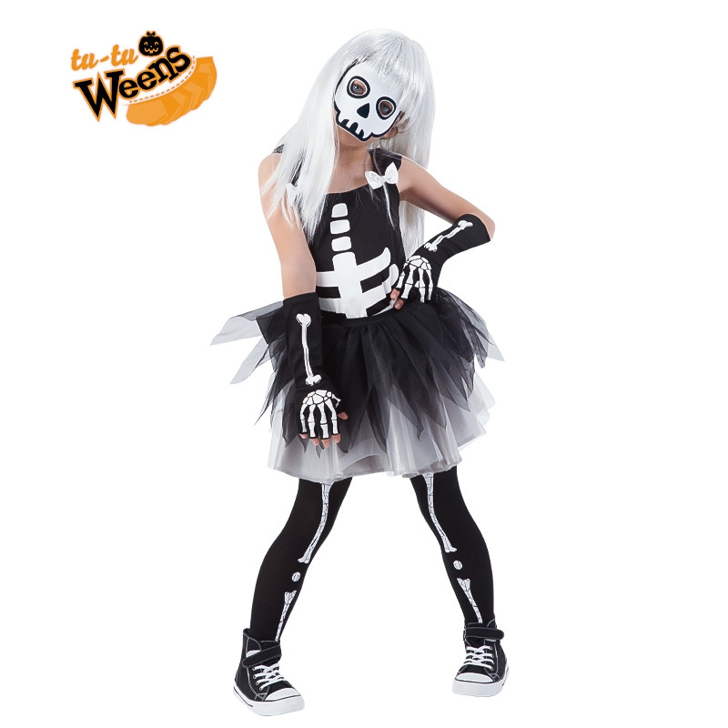 Disfraz esqueleto con tutú infantil