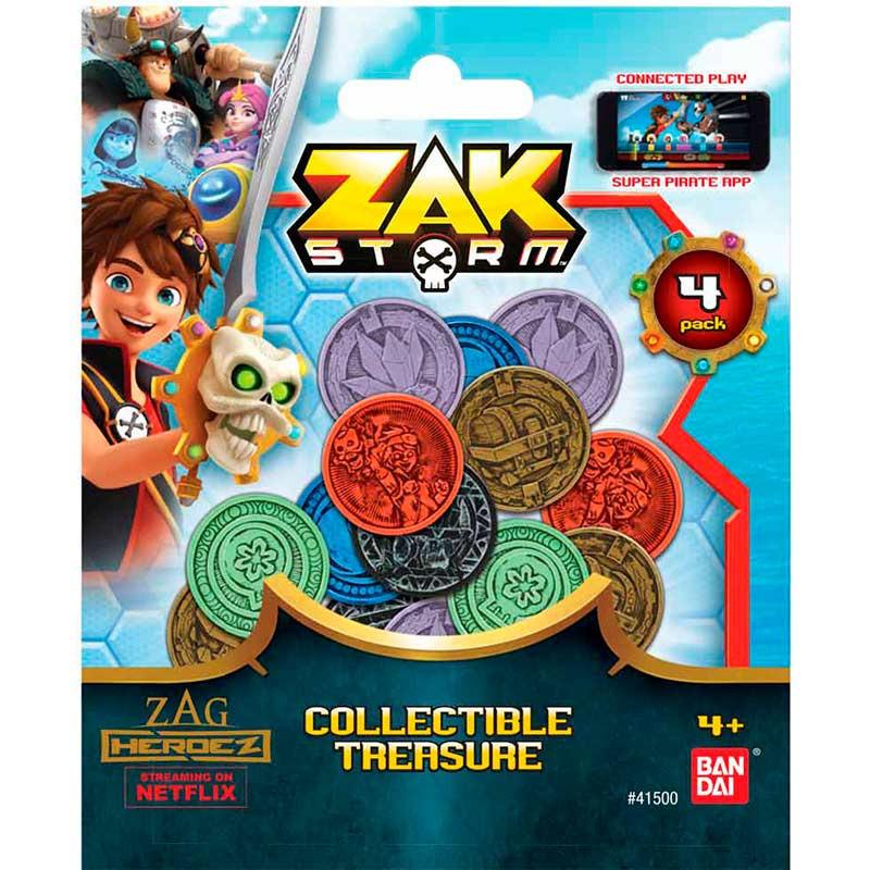 Zak Storm pack de 4 monedas