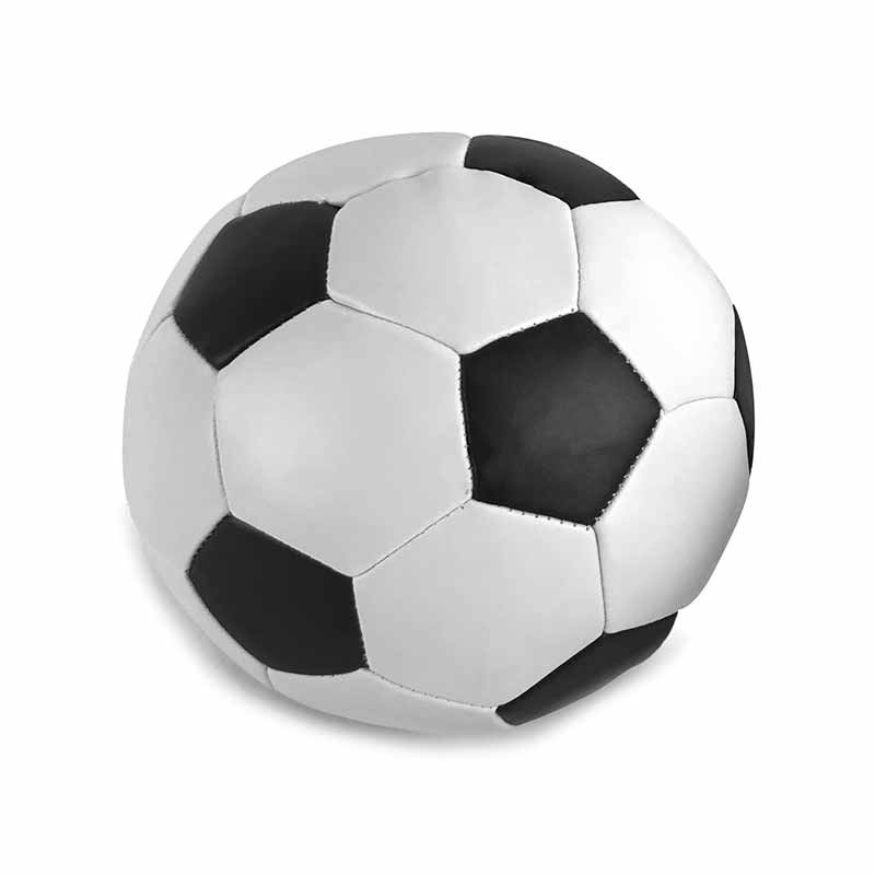 Pelota de futbol blanda 12cm