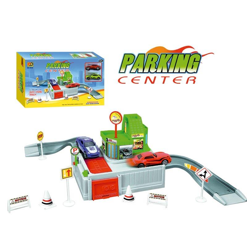 Pista circuito de parking con 2 vehículos