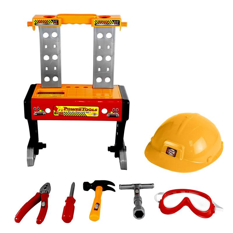 Banco de herramientas 2 en 1, 29 piezas y casco