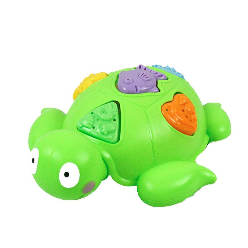 Juguete de baño tortuga con piezas de encajar