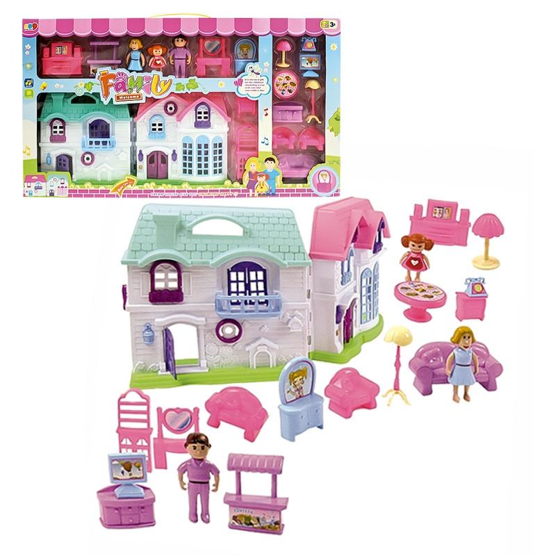 Casa de muñecas con mobiliario
