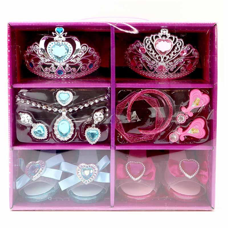 Conjunto 14 accesorios de joyas y zapatos