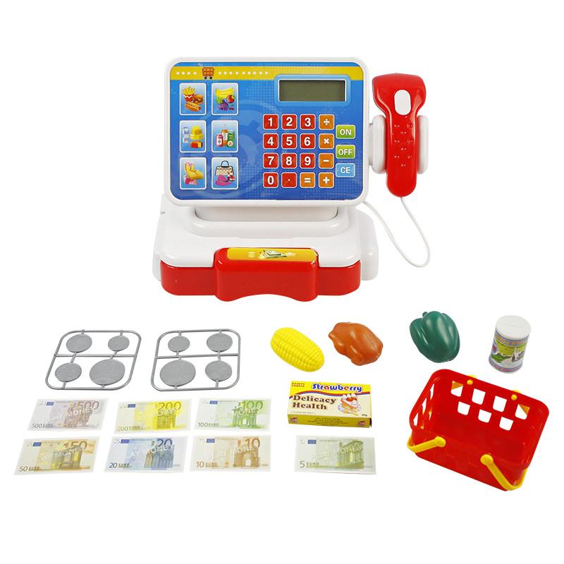 Caja Registradora con calculadora y accesorios