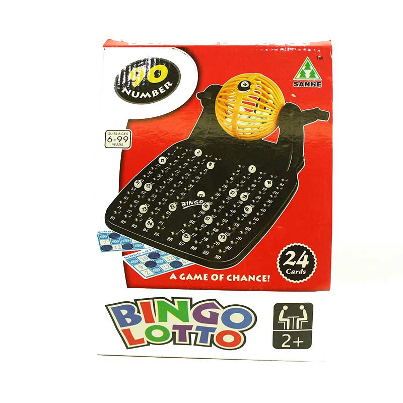 Bingo lotto con 24 tarjetas y 90 números
