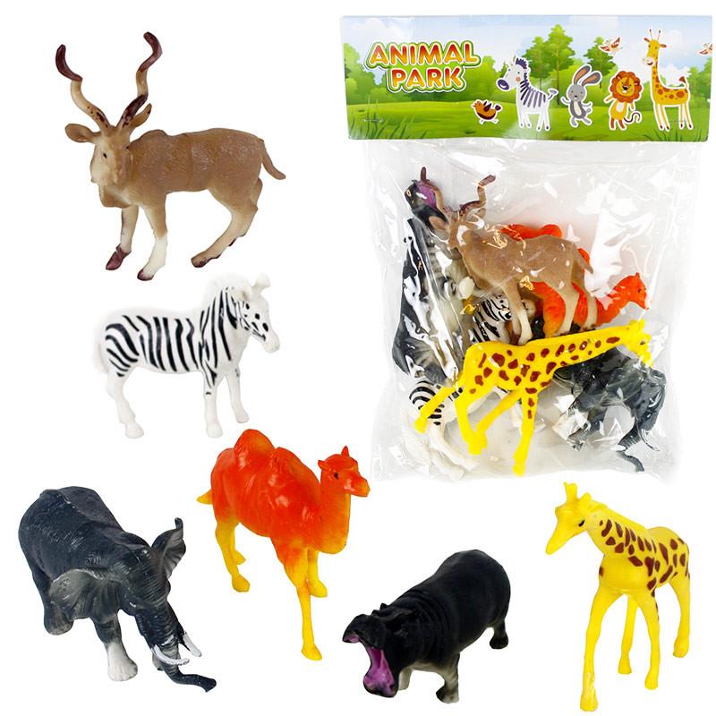 Conjunto 6 animales pvc