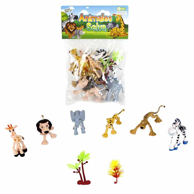 Conjunto 8 animales PVC
