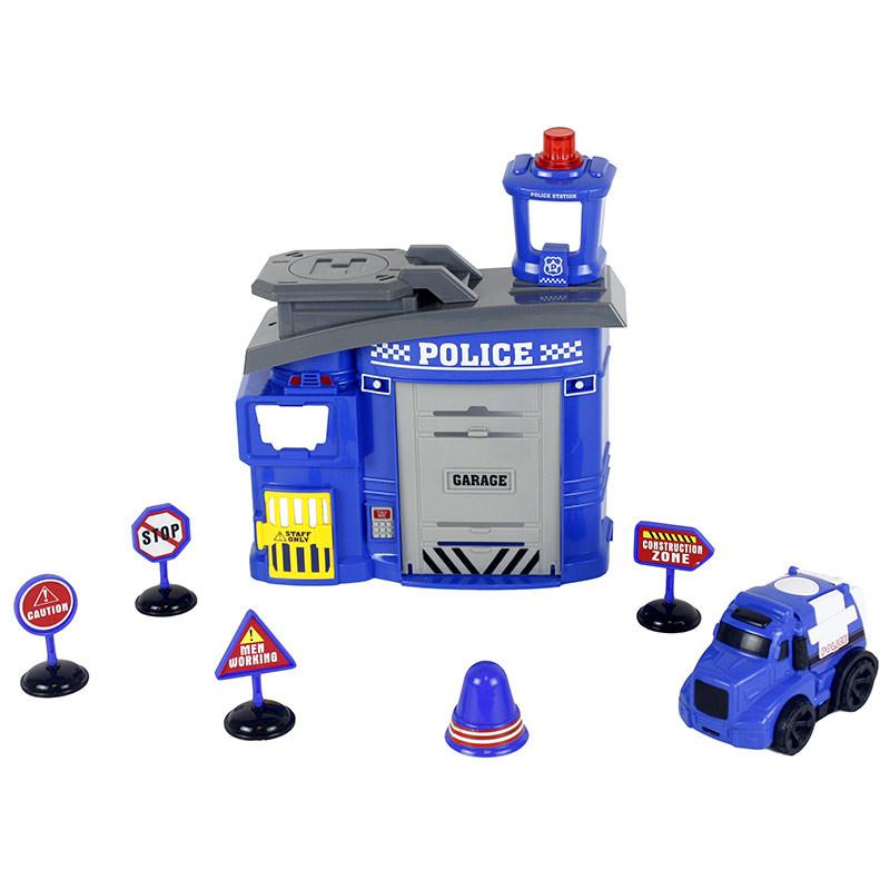 Estación de policia con 8 piezas luces y sonidos