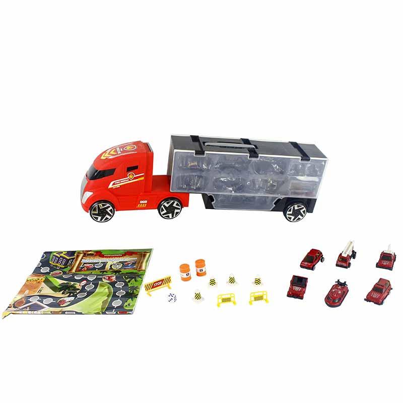 Camión 50cm con maletín y 6 vehiculos