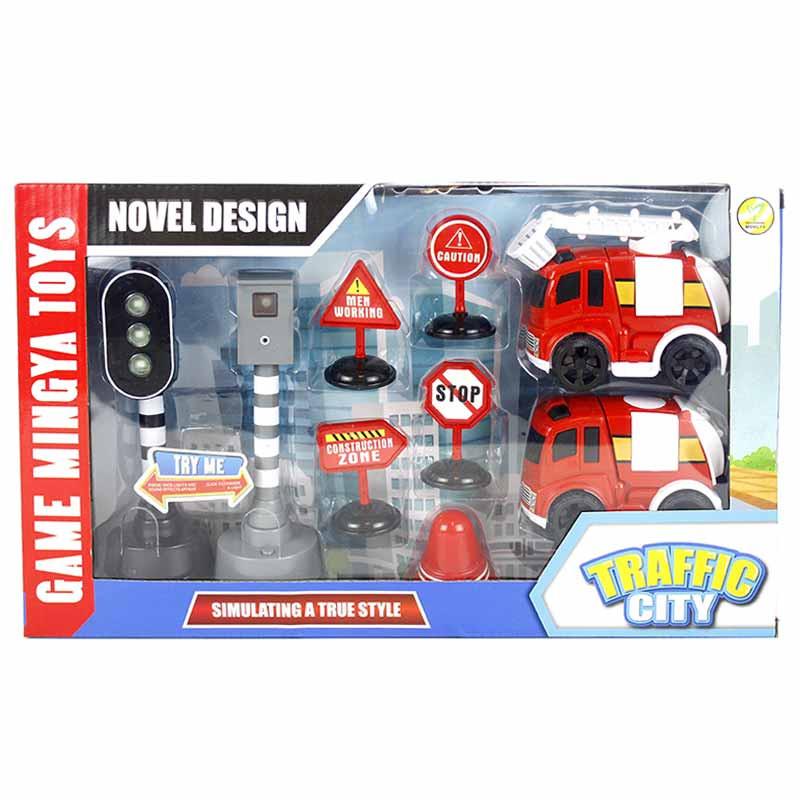 2 vehículos emergencias 10cm acc. luz y sonido