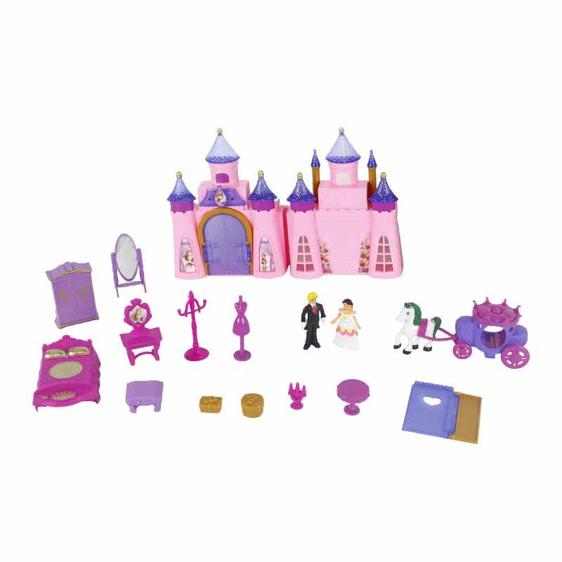 Castillo Princesas con 13 accesorios 33x23cm