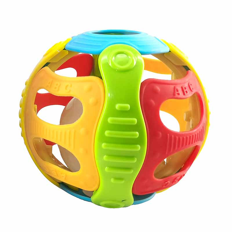 Bola sonajero 9,5cm con luces y sonidos