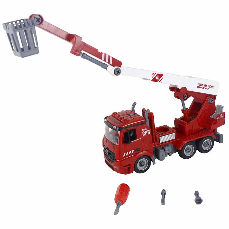 Camión bomberos con grua y herramientas
