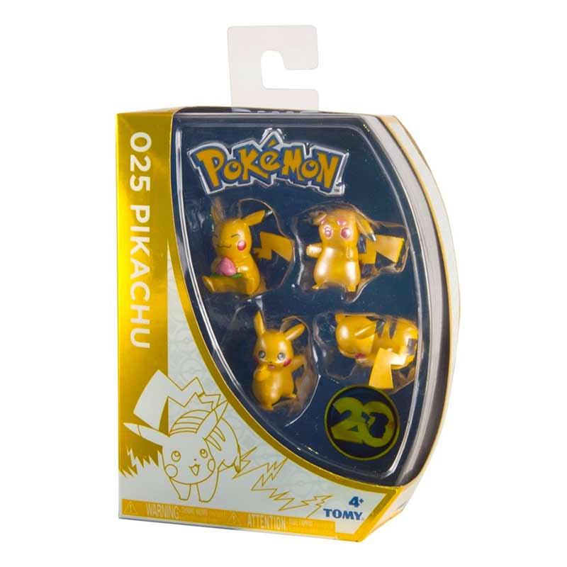 Pokemon pack 4 figuras 20 aniversário