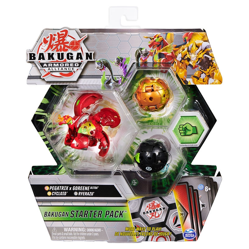 Bakugan starter pack Pegatrix x Goreene