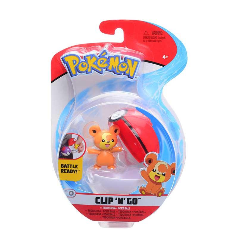 Pokemon Clip N´go Teddiursa + Poke ball