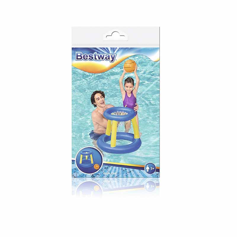 Canasta hinchable flotante Splash 'N' Hoop