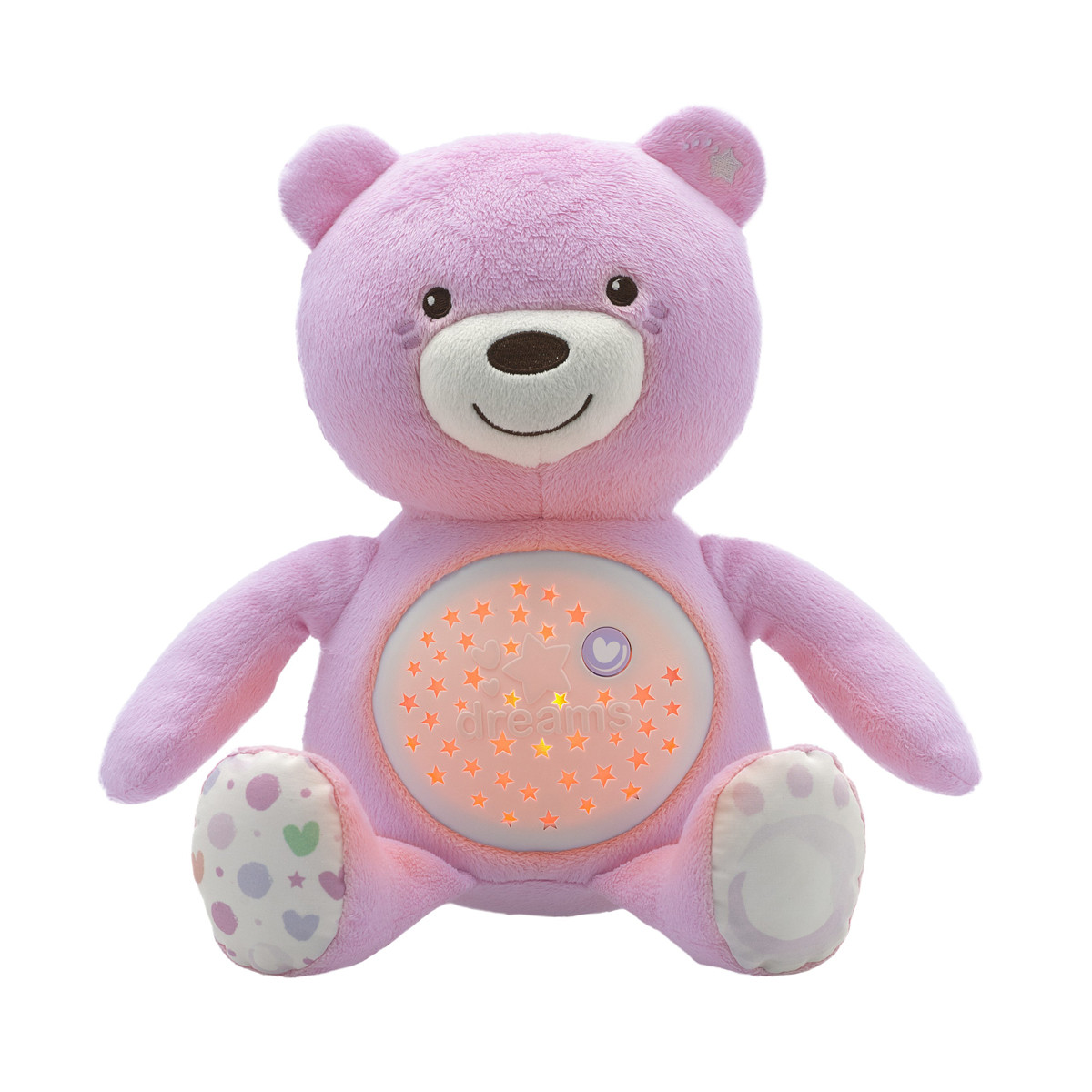Chicco proyector osito baby bear rosa