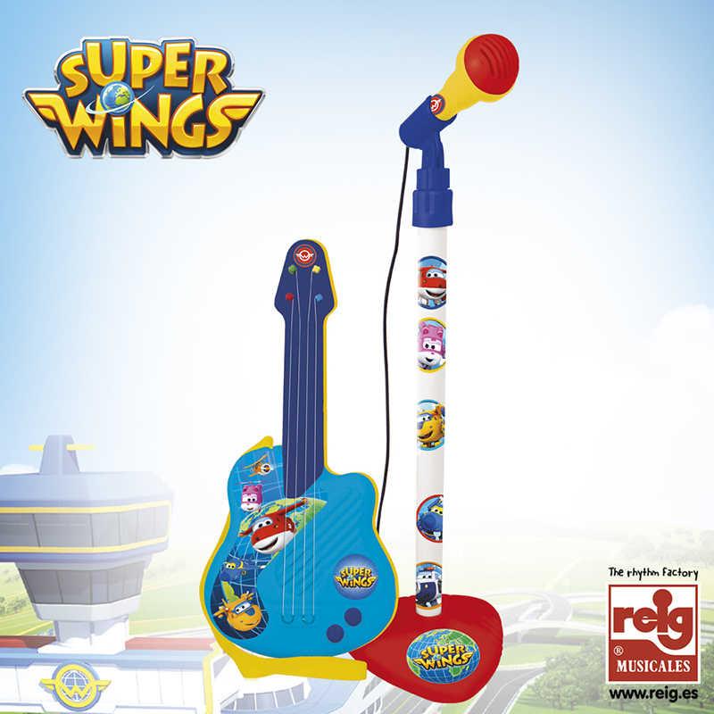 Micro y guitarra Super Wings