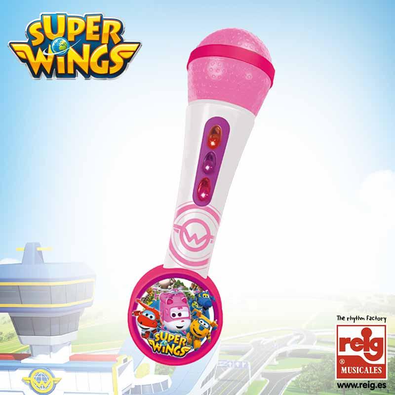 Micro de mano y amplificador Super Wings rosa