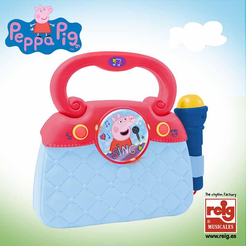 Bolso micro, luces, ritmos conex MP3 Peppa Pig
