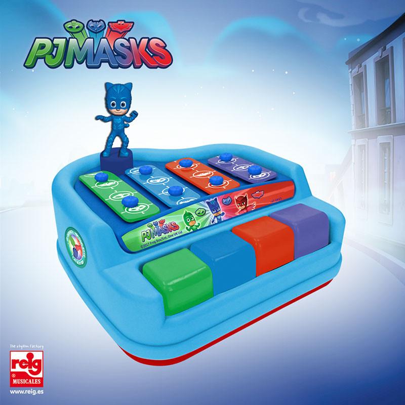 Xilófono piano 4 notas y figura PjMasks