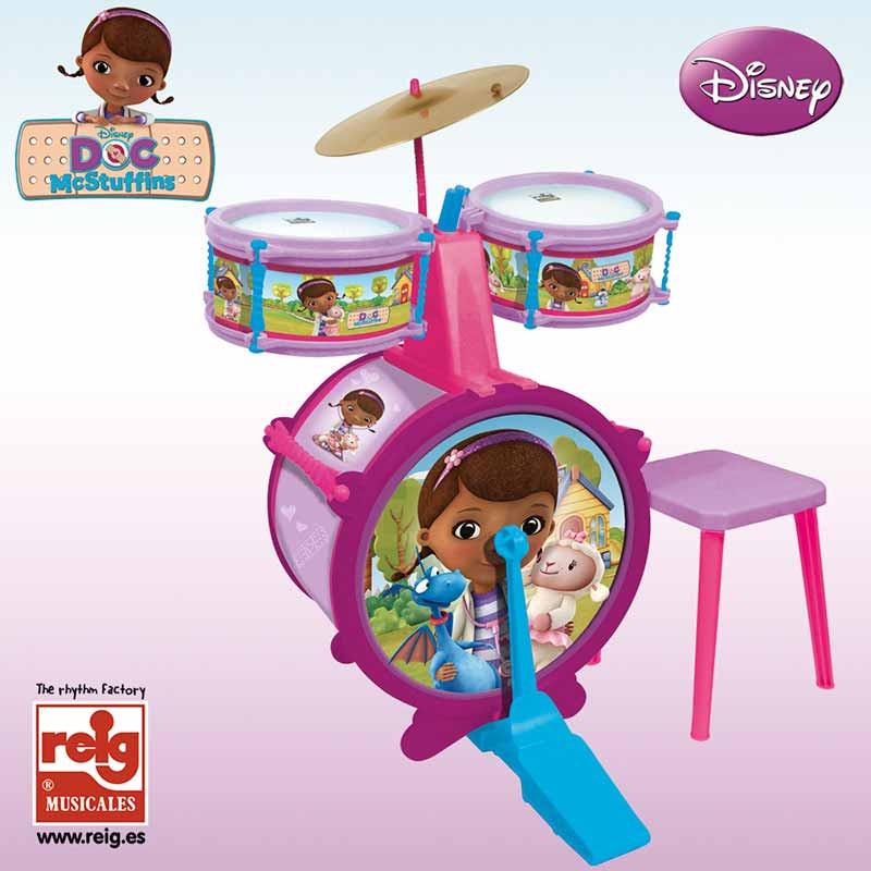 Batería 3 elemento con banqueta Doctora juguetes