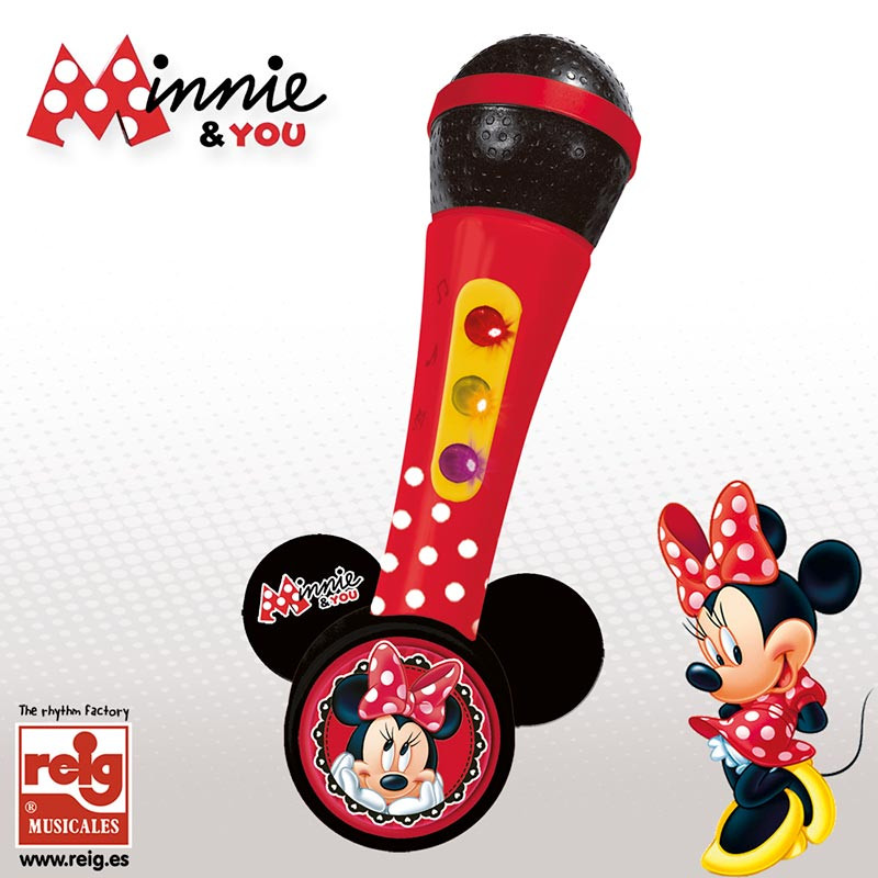 Micro de mano amplificador y ritmos Minnie