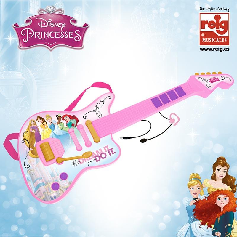 Guitarra electrónica y micro Princesas Disney