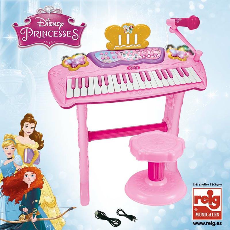 Órgano con pie y banqueta Princesas Disney