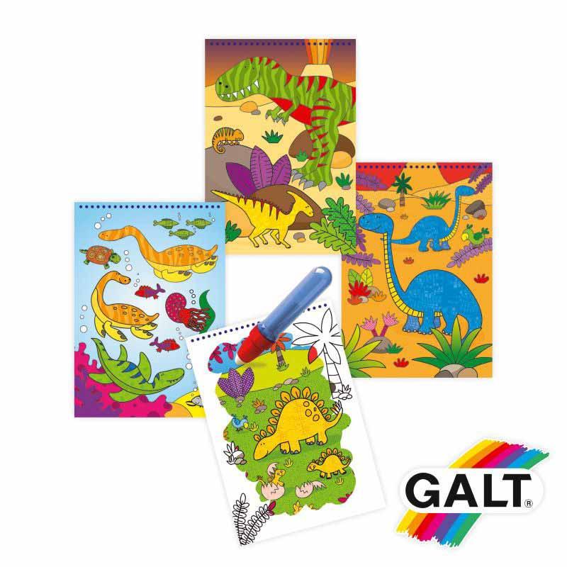 Libro para colorear con agua de dinosaurios