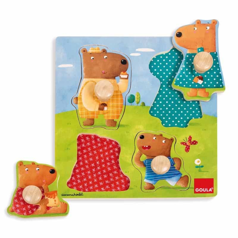 Puzzle pivotes grandes familia de osos