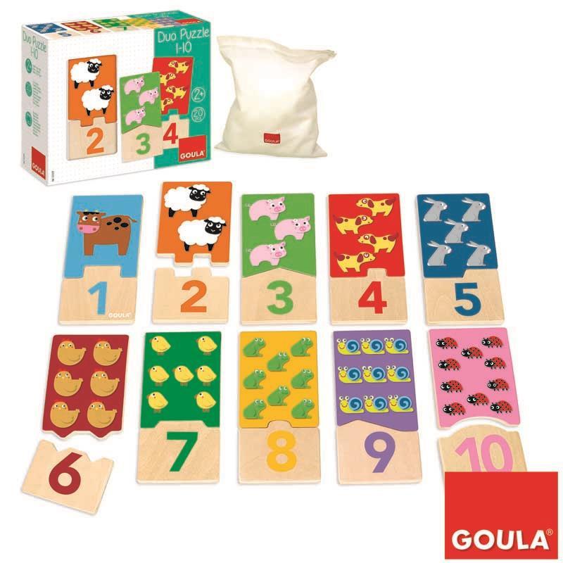 Puzzle de madera animales del 1 al 10