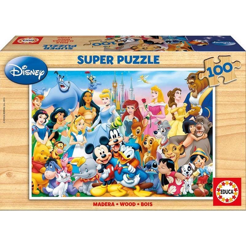 Educa puzzle 100 el maravilloso mundo de Disn
