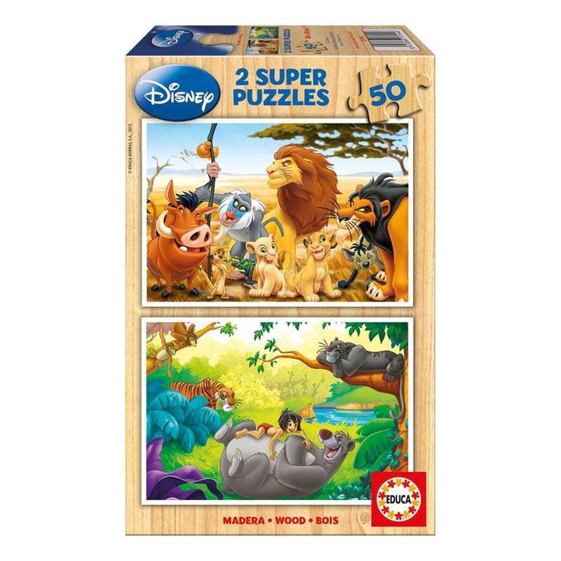Puzzle 2x50 Animales Amigos