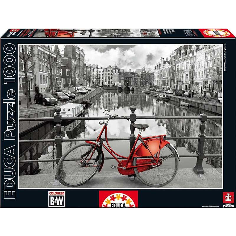 Educa puzzle 1000 Amsterdam black and white