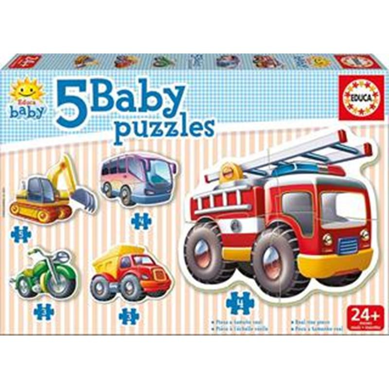 Educa 5 puzzle baby vehículos