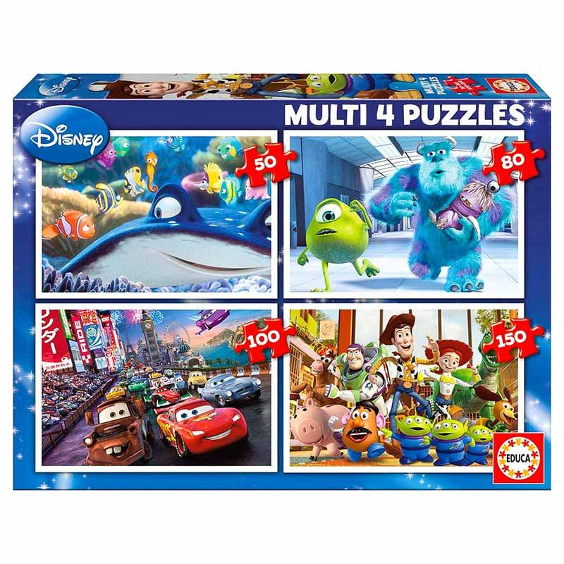Educa puzzle multi 4 Pixar 50-80-100-150